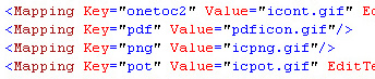 Extract from Docicon.xml showing pdf icon properties
